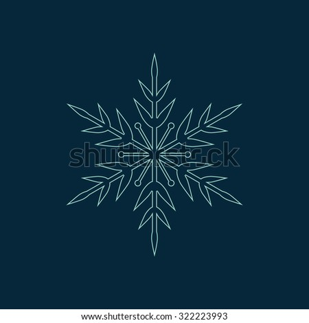 Vector snowflake. Christmas card illustration. Holiday design