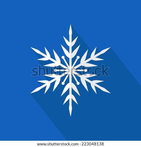 Vector snowflake. Snowflake flat icon. Christmas. New Year card illustration. Holiday design. Winter