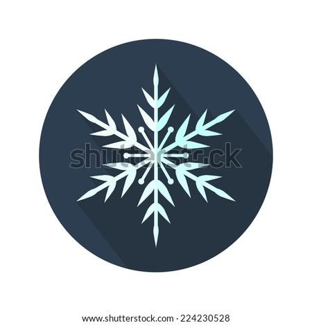 Vector snowflake. Snowflake flat icon. Christmas. New Year card illustration. Holiday design. Winter - stock vector