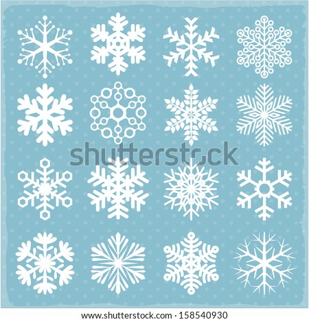 Vector snowflakes. - stock vector