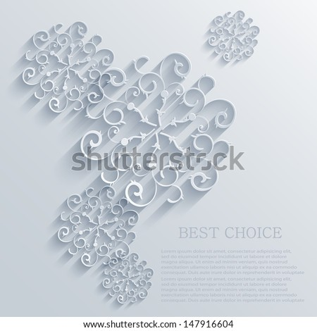 Vector snowflakes background. Eps10 - stock vector