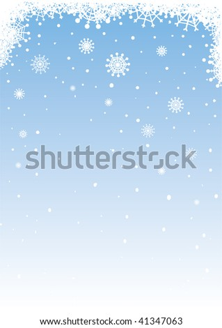 Vector snowy background for your holiday's design. - stock vector