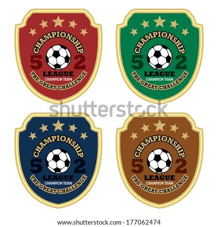 Vector soccer badge / Vector soccer labels / Soccer emblems  - stock vector