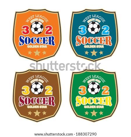 Vector soccer badge / Vector soccer labels / Soccer emblems / Football Soccer Club emblem / Vector Soccer ( T-shirt Printing Design )  - stock vector