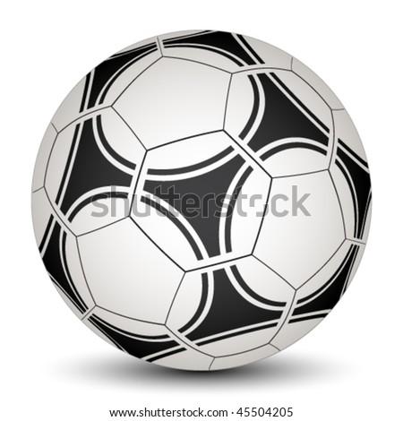 vector soccer ball - stock vector