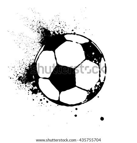 vector soccer ball isolated on white - stock vector