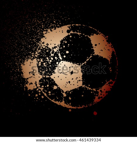 vector soccer ball on black