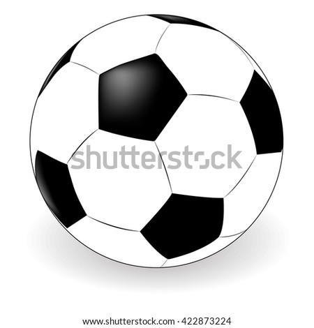 vector soccer ball on white background