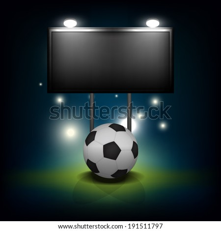 vector soccer ball with blank scoreboard : all objects group and separated layer
