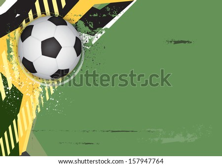 vector soccer grunge background design - stock vector