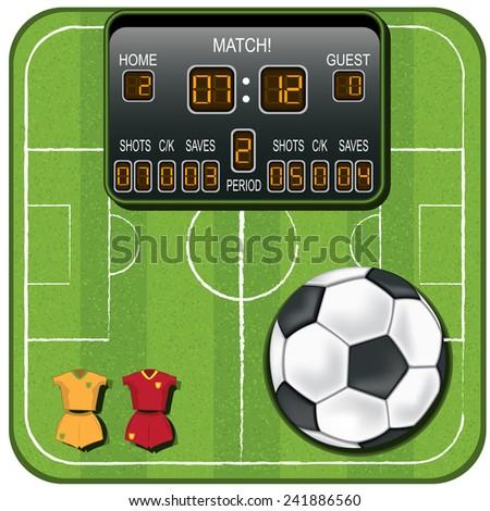 vector soccer icon - stock vector