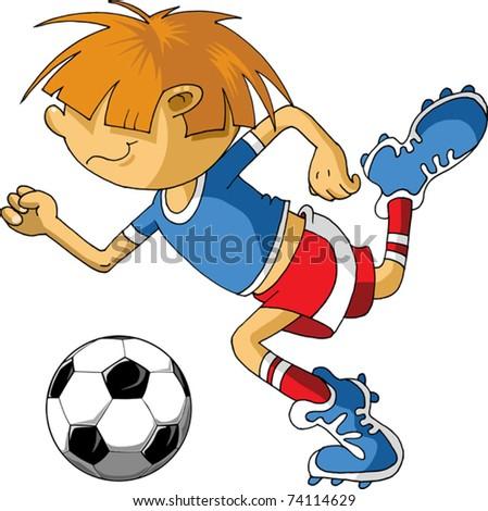 Vector Soccer player design / Football Background / Vector sport design; - stock vector