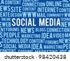 vector social media concept words about internet - stock vector