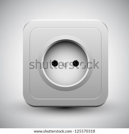 Vector socket | eps10 - stock vector