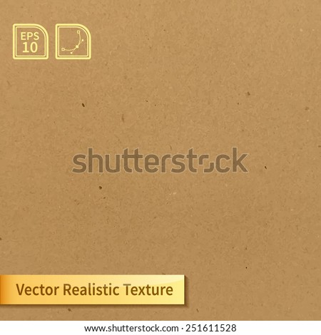 Vector soft clean cardboard texture. Photo texture for your design - stock vector