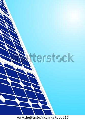 vector solar panel - stock vector