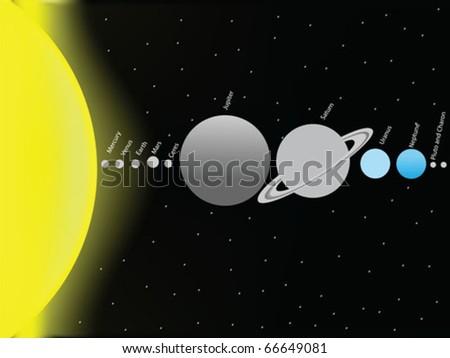 vector solar system - stock vector