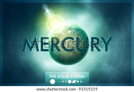 Vector Solar System - Planet Mercury - stock vector