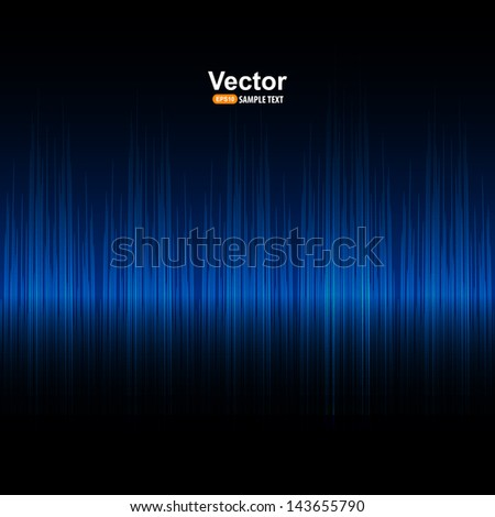 Vector sound blue equalizer - stock vector