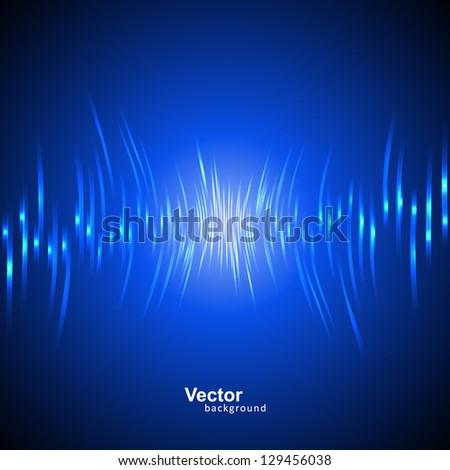 Vector sound wave - stock vector