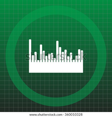 Vector sound wave. Audio equalizer technology, pulse musical. Vector illustration - stock vector
