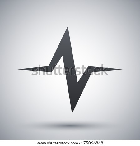 Vector sound wave icon - stock vector