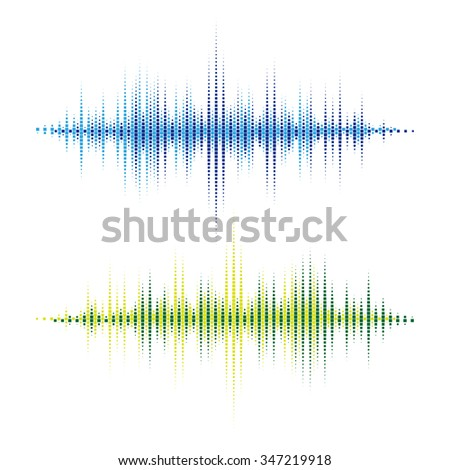 Vector Sound Waveforms. Colorful sound waves for party, DJ, pub, clubs, discos. Audio equalizer technology. Vector illustration - stock vector