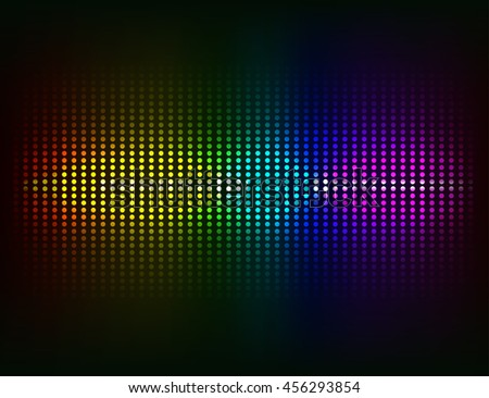 Vector sound waves Music colorful elements - stock vector