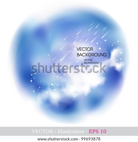 Vector space background. Vector illustration. - stock vector