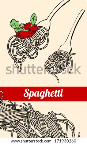 vector spaghetti on fork