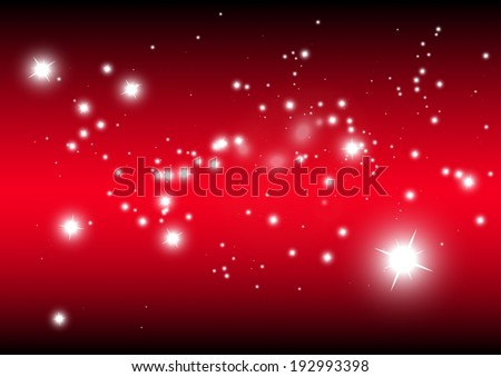 Vector sparkles in space background - Star fied vector background template illustration - stock vector