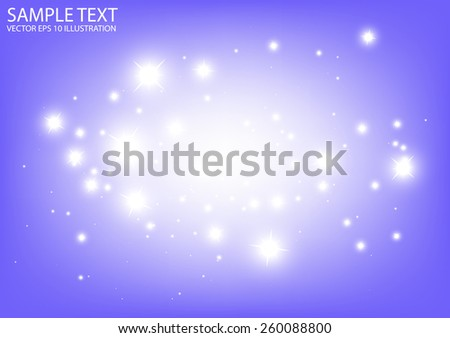Vector sparkling purple space background illustration - Vector abstract purple sparkle background template - stock vector