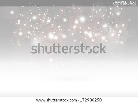 Vector sparks  virtual scene for design templates and backgrounds on reflective surface - Vector 3D sparkling background illustration - stock vector