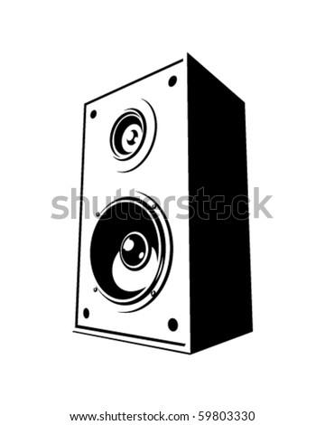 Vector speaker - stock vector