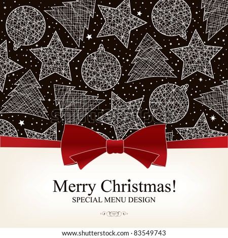 Vector. Special Christmas menu design - stock vector