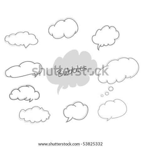 vector speech and thought bubbles - stock vector