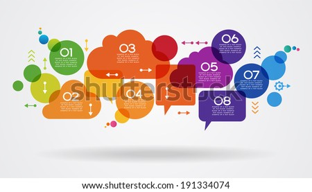 Vector speech bubble background with text space. File stored in version AI10 EPS. This image contains transparency. - stock vector