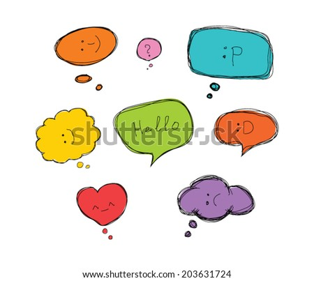 vector speech bubbles - stock vector