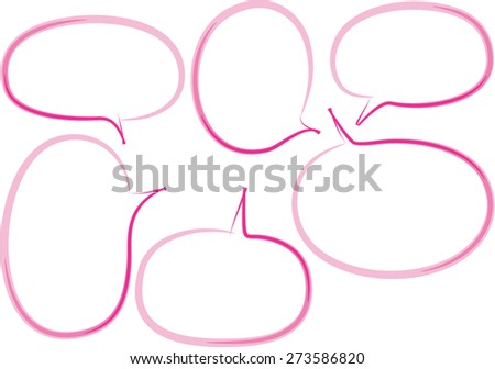 vector speech bubbles