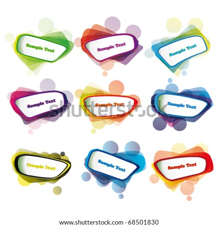 vector speech bubbles eps10 - stock vector