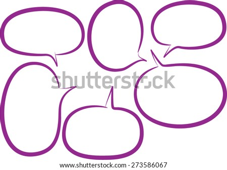 vector speech bubbles in purple