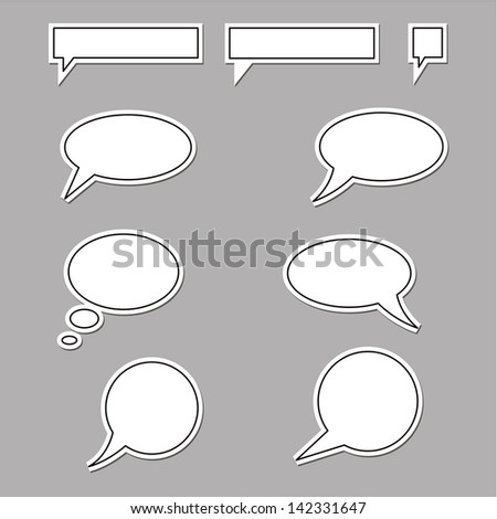 vector speech bubbles round and square