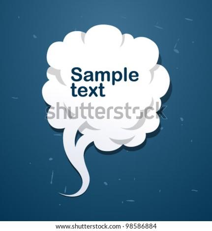 Vector speech cloud banner) - stock vector