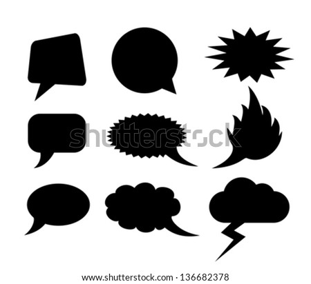 Vector speech clouds shapes - stock vector