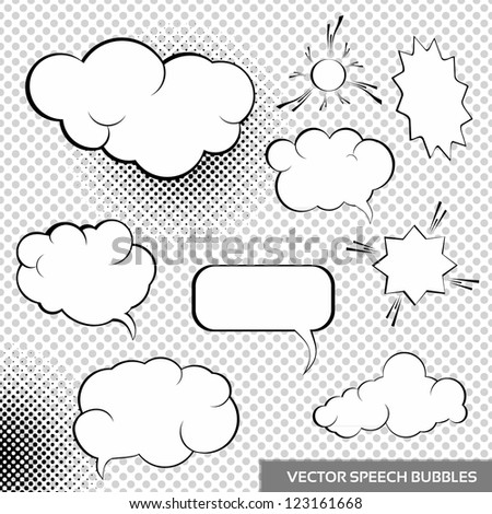 Vector Speech Design Elements. Comic bubbles collection. - stock vector