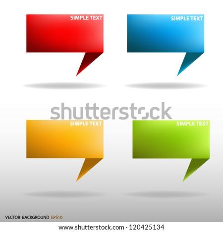 Vector Speech sign banner background communication for Vector design - stock vector