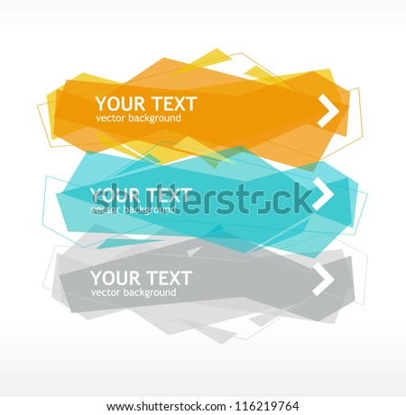 Vector speech template - stock vector