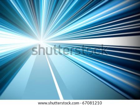 vector speed concept - stock vector