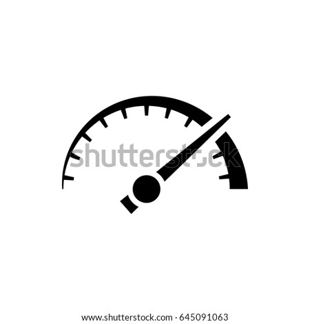 vector speedometer odometer icon thick black stock vector 2018 rh shutterstock com speedometer vector icon speedometer vector free download