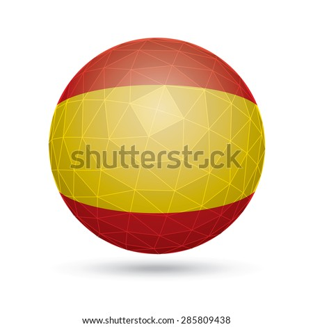 Vector sphere with flag of Spain. - stock vector